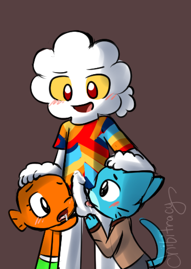 amazing world the episode season 6 43 of gumball Blue and white striped panties