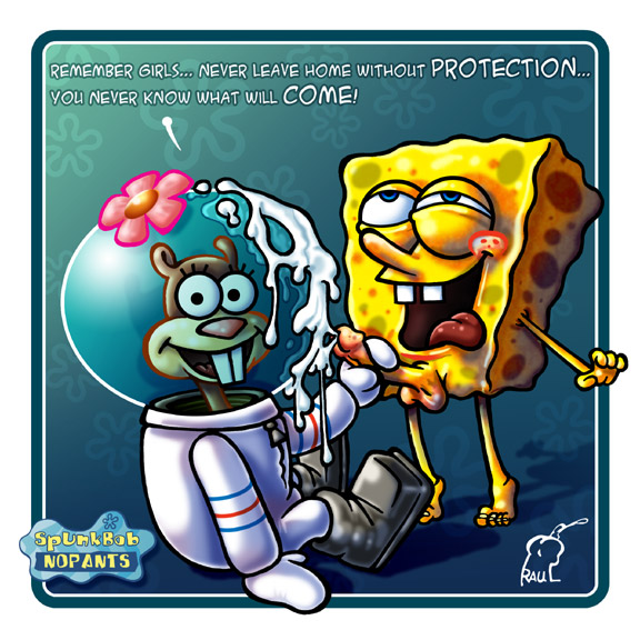 there menacingly spongebob just standing he's Rick and morty annie